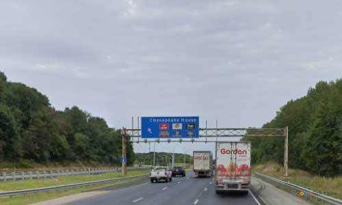 md interstate 95 maryland chesapeake house travel center rest area mile marker 97 northbound off ramp exit copy