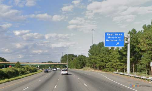 md interstate 95 maryland i95 south welcome center rest area mile marker 37 southbound off ramp exit