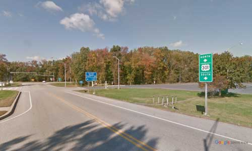 md us route 301 us301 maryland bay county welcome center rest area bidirectional access off ramp exit
