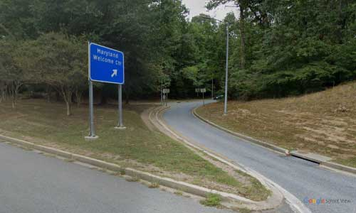 md us route 301 us301 maryland crain memorial welcome center rest area bidirectional access off ramp exit